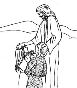 Christian coloring pages for children 001