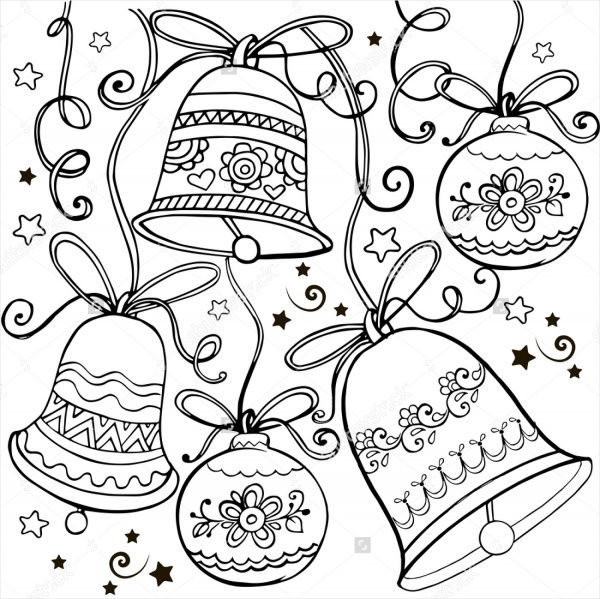Christmas Bell Ornaments Coloring Page