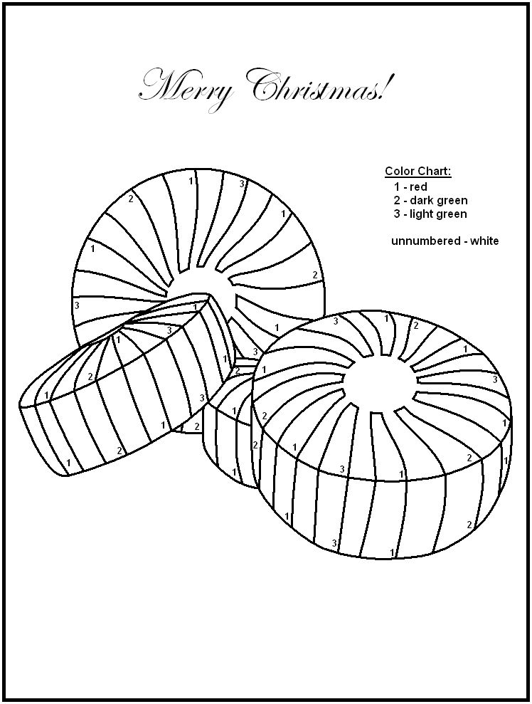 Christmas Color By Numbers Candy 001