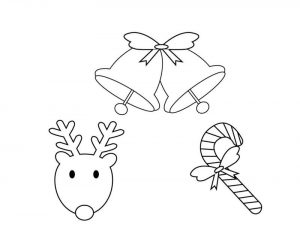Christmas coloring page for preschool