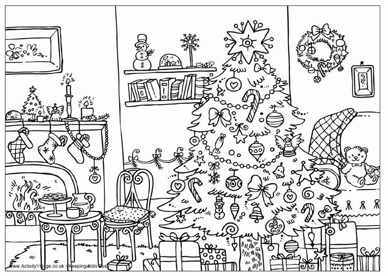 Christmas Coloring Pages For Adults 1