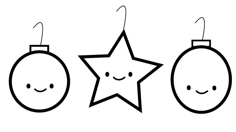 Christmas Coloring Pages For Preschoolers Ornaments