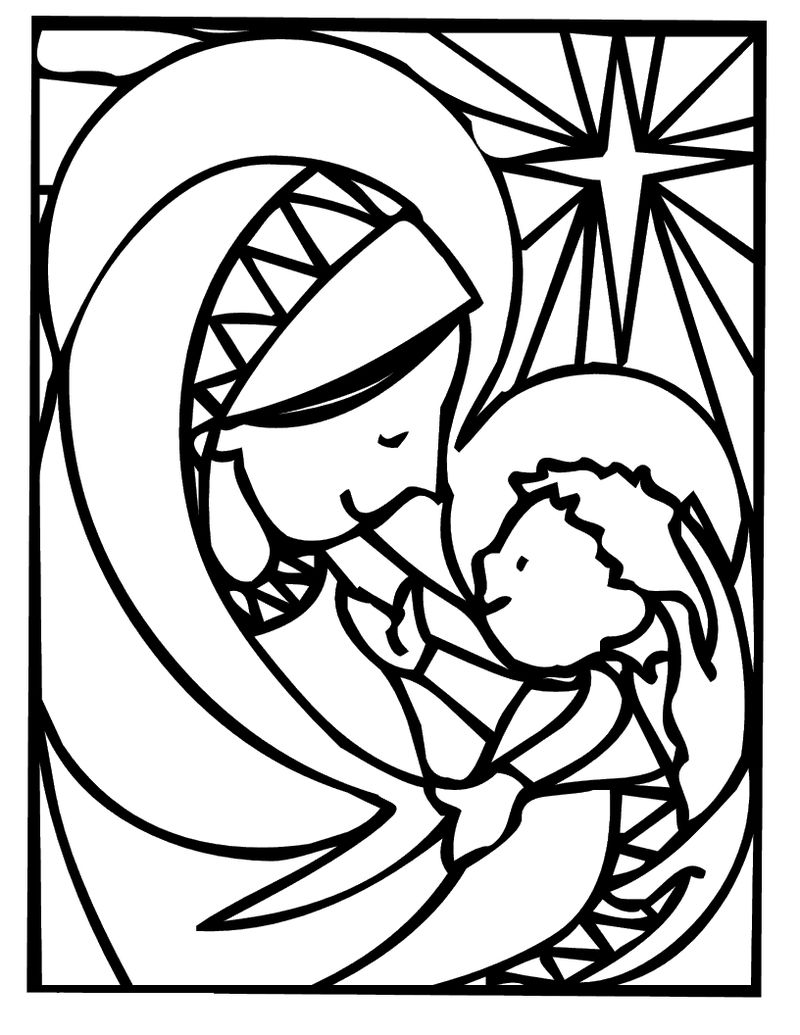 Christmas Coloring Pages Jesus And Mary