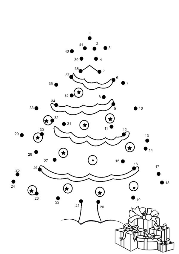Christmas Connect The Dots Printable