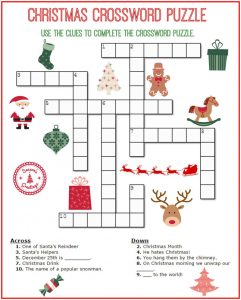 Christmas crossword puzzle 001