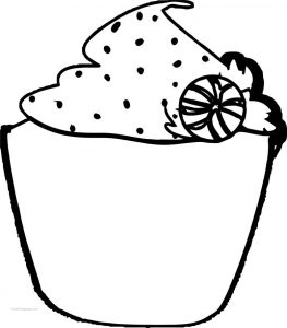 Christmas cupcake art coloring page