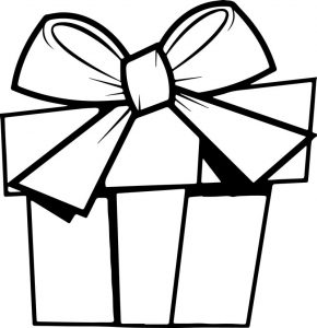 Christmas gift art coloring page