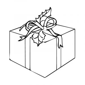 Christmas gift coloring page 001