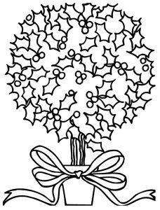 Christmas holly coloring pages 2