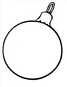 Christmas ornament coloring page 001