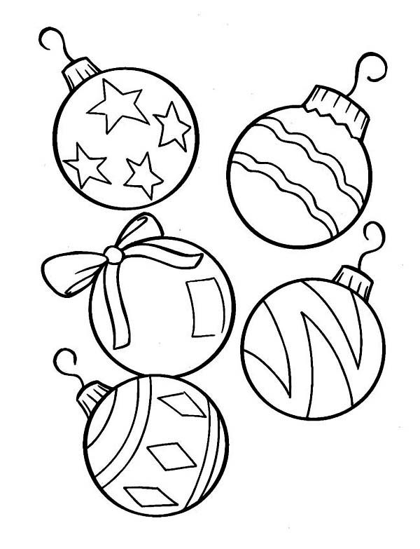 Christmas Ornaments Coloring Page Printabe