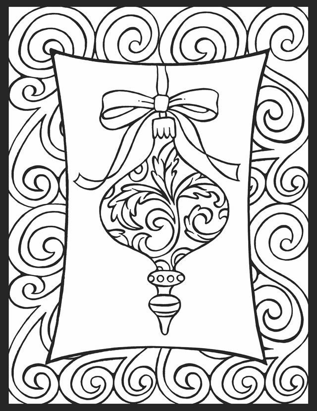Christmas Ornaments Coloring Pages 1