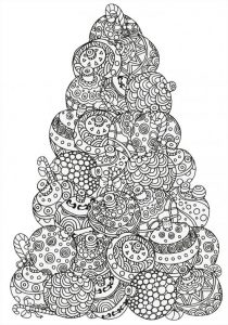 Christmas ornaments coloring pages for adults