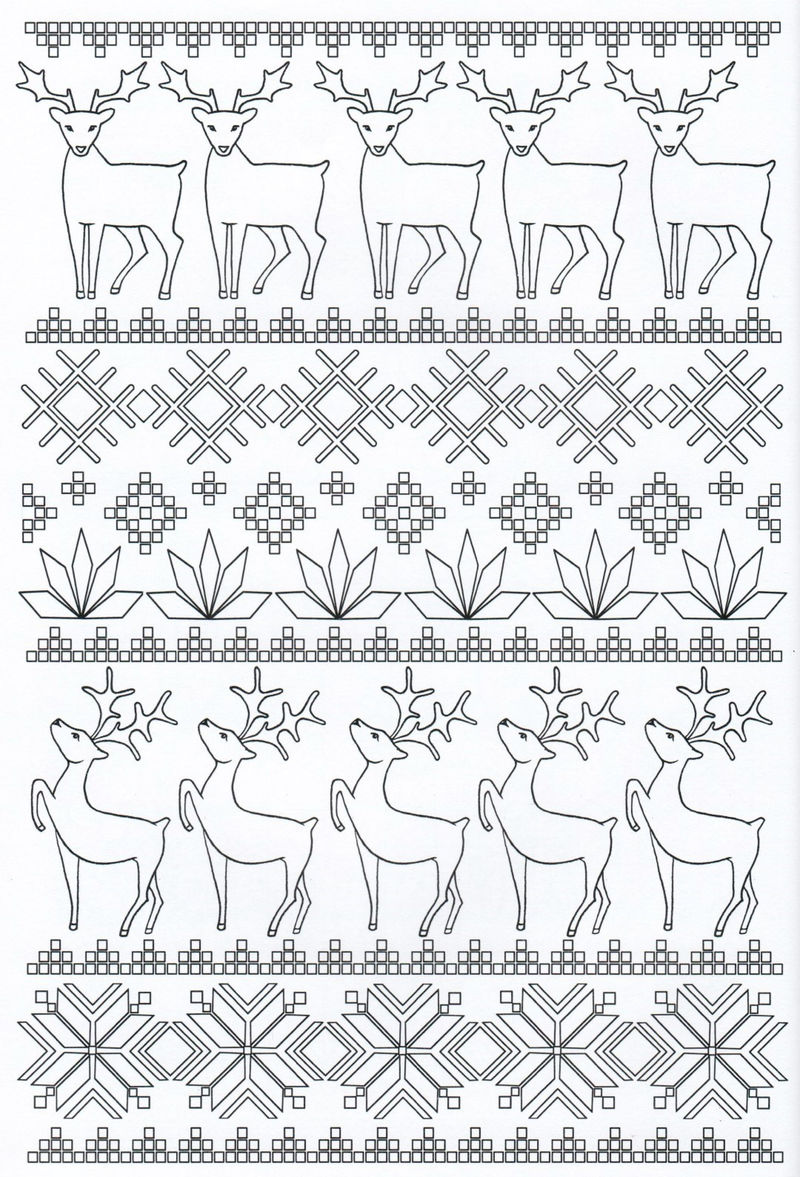 Christmas Pattern Coloring Pages For Adults