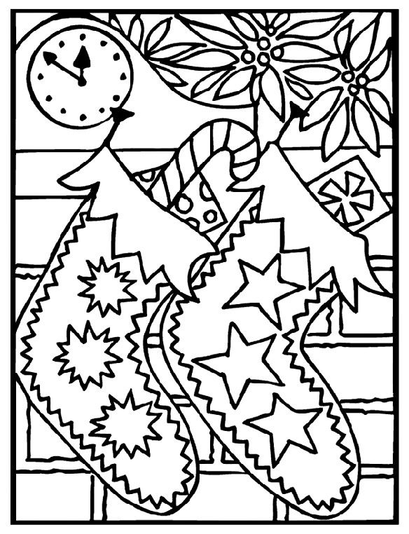 Christmas Stocking Coloring Pages For Preschool