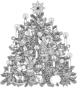 Christmas tree coloring page 001