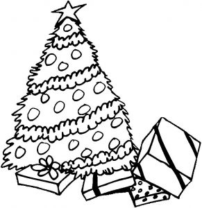 Christmas tree coloring pages kids 1