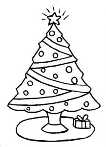 Christmas tree coloring pages to print