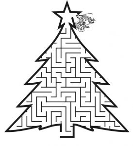 Christmas tree maze printable christmas games