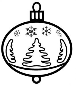 Christmas tree ornament coloring page 1
