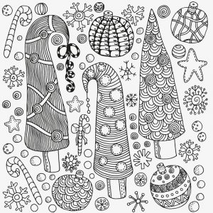 Christmas trees coloring pages for adults
