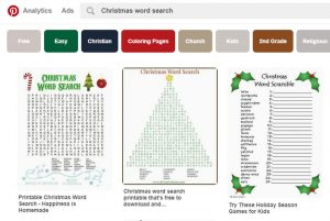 Christmas word search pinterest