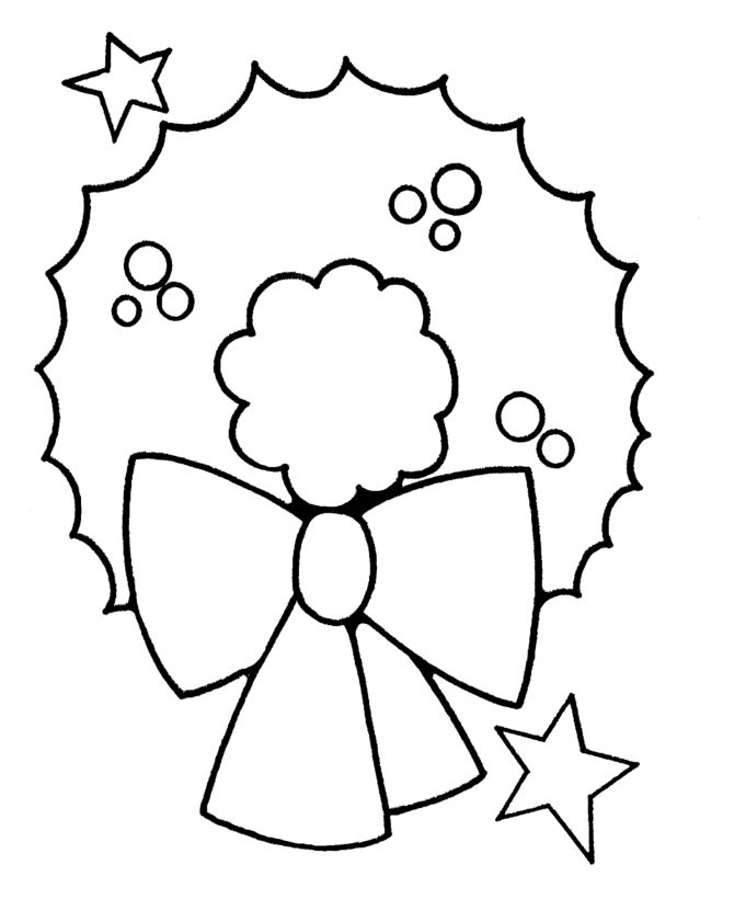 Christmas Wreath Coloring Pages For Preschoolers