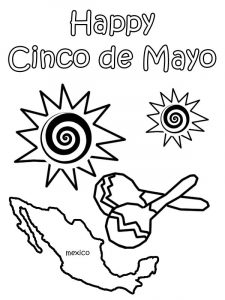 Cinco de mayo coloring worksheet 1