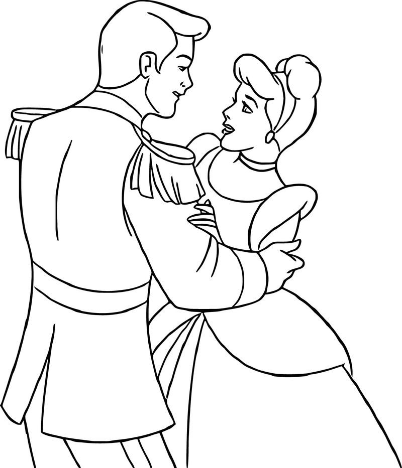 Cinderella And Prince Charming Coloring Pages 21