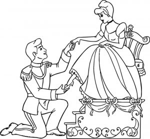 Cinderella and prince charming coloring pages 26 2