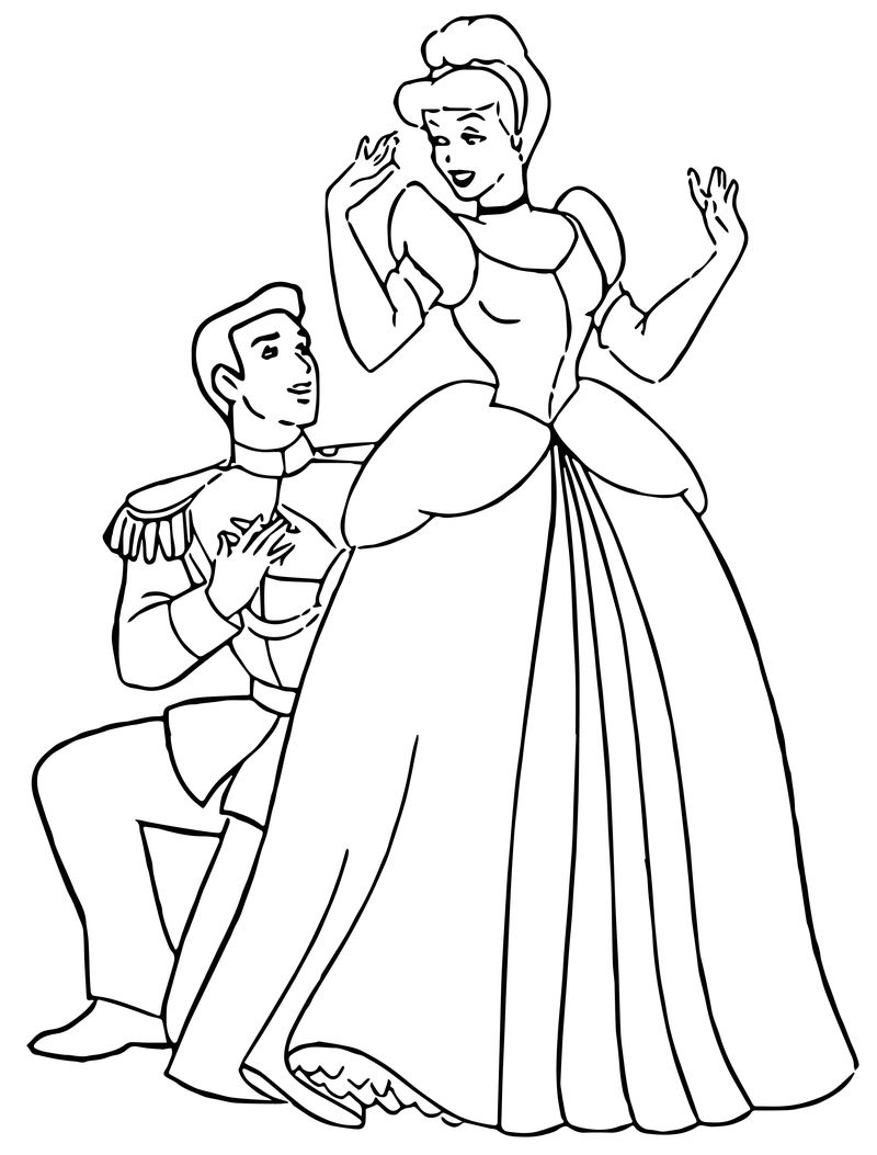 Cinderella And Prince Charming Coloring Pages 31
