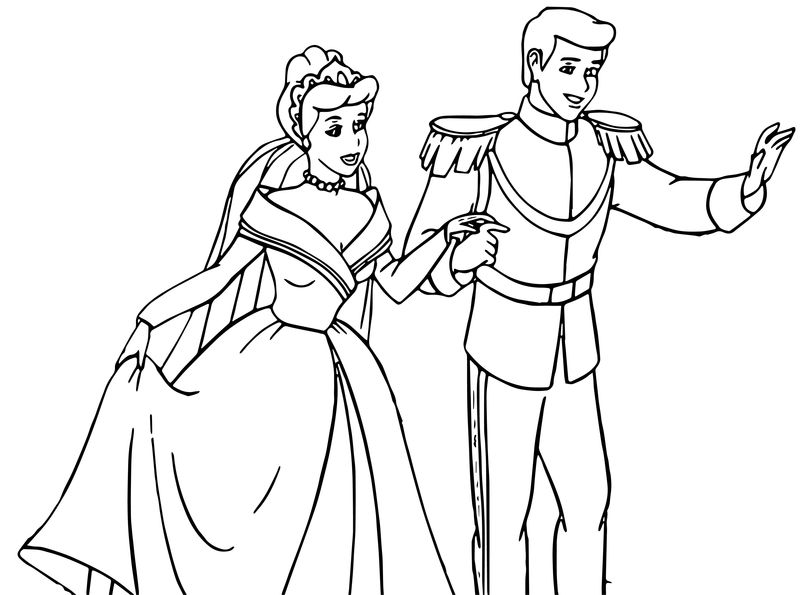 Cinderella And Prince Charming Coloring Pages 32