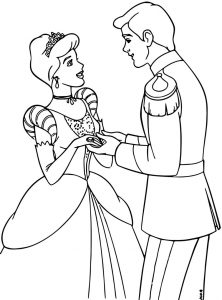 Cinderella and prince charming coloring pages 36