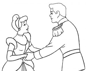Cinderella and prince charming coloring pages 37