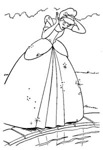 Cinderella coloring pages for kids printable