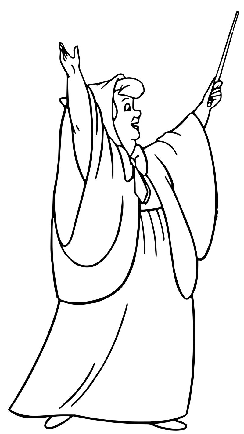 Cinderella Fairy Godmother Coloring Pages 01