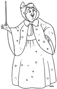 Cinderella fairy godmother coloring pages 12