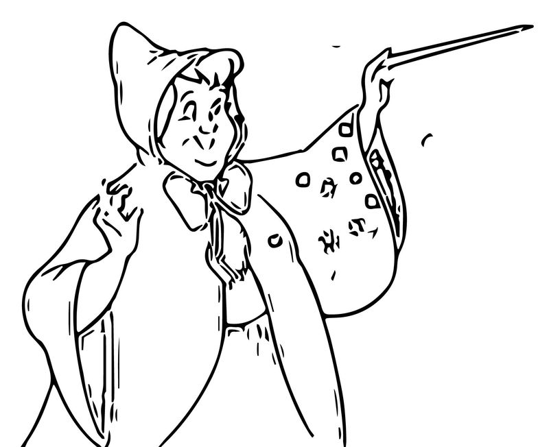 Cinderella Fairy Godmother Coloring Pages 15