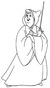 Cinderella fairy godmother coloring pages 22