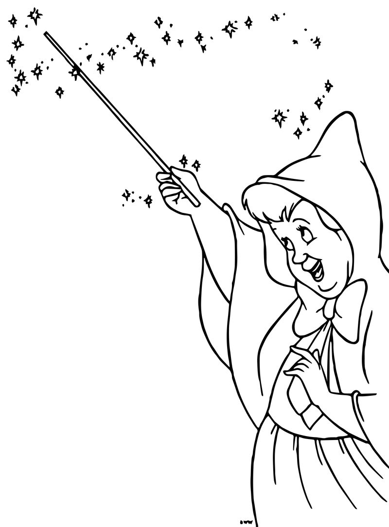 Cinderella Fairy Godmother Coloring Pages 29