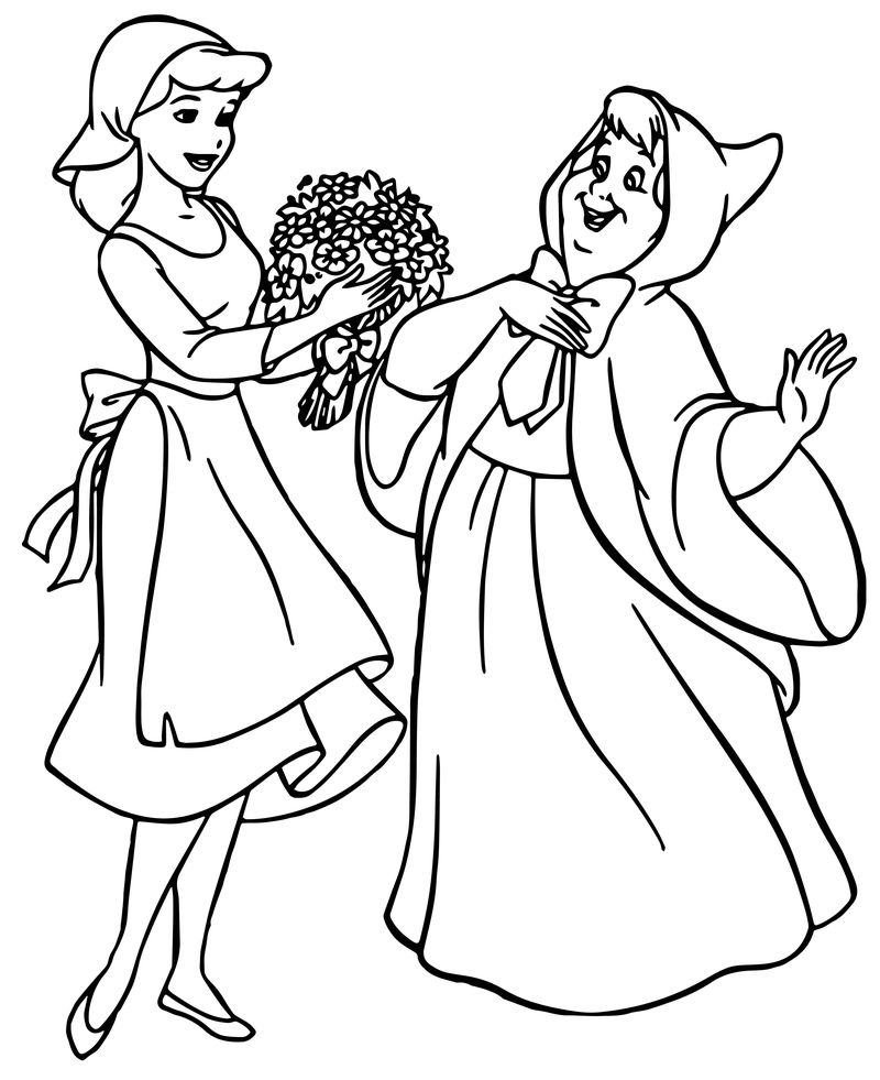 Cinderella Fairy Godmother Coloring Pages 30