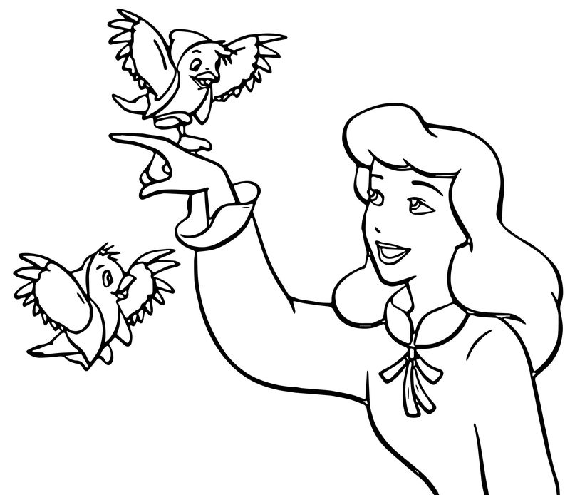 Cinderella Mice And Birds Coloring Pages 02