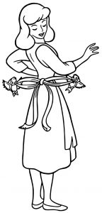 Cinderella mice and birds coloring pages 11