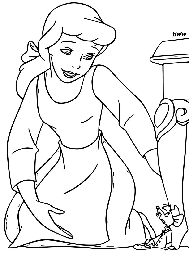 Cinderella Mice And Birds Coloring Pages 22