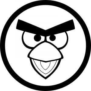 Circle angry birds coloring page