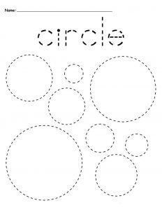 Circles preschool tracing worksheets
