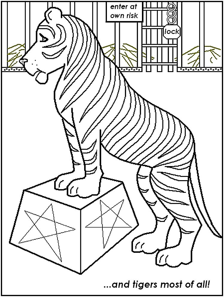 Circus Coloring Pages For Kids