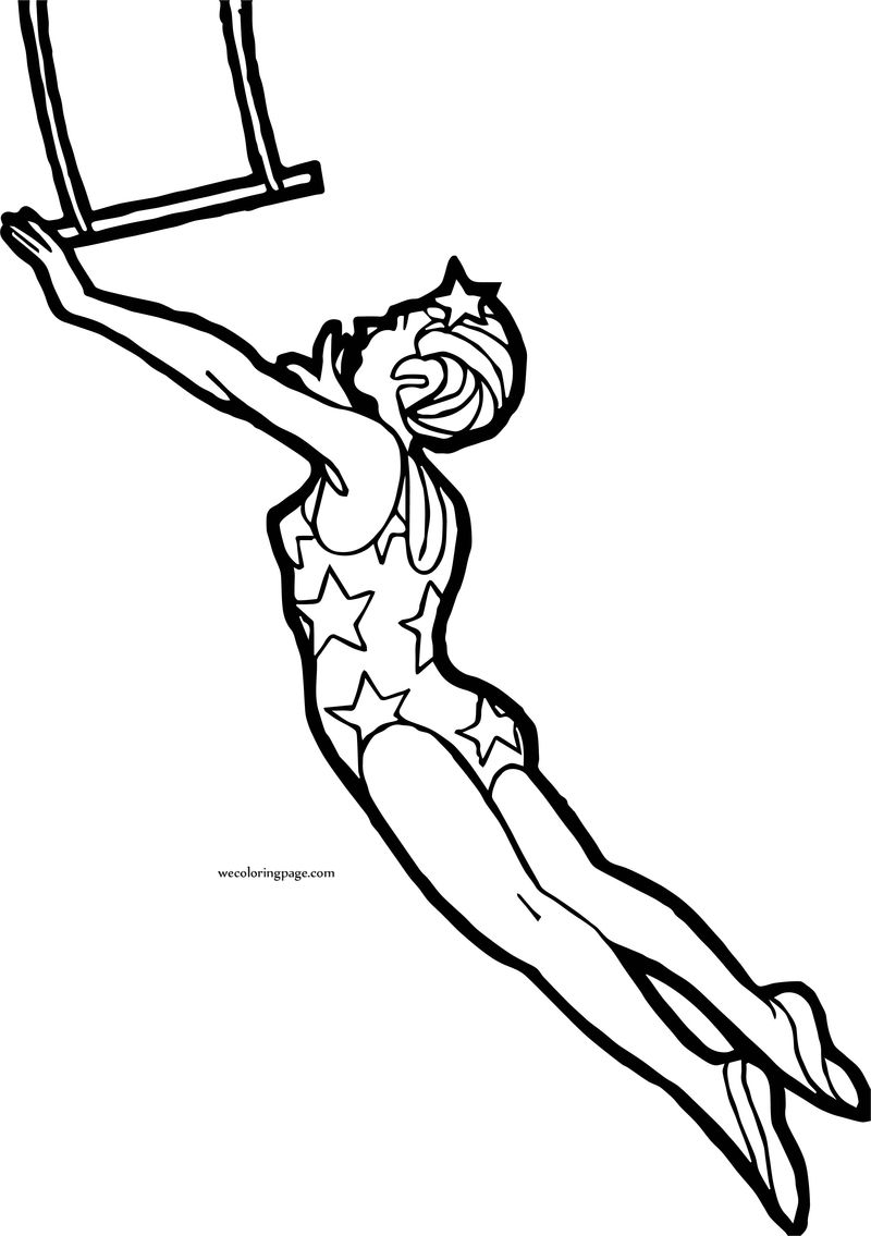 Circus Girl Jump Rope Coloring Page