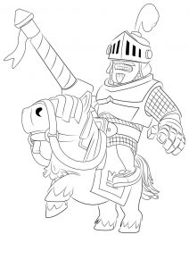 Clash royale coloring pages prince