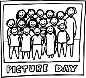 Class picture day color coloring page